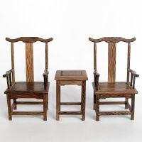 红木工艺品摆件 实木雕刻仿明清古典家具模型 微缩鸡翅木质灯挂椅