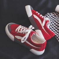 2018冬季新款帆布鞋女韩版百搭原宿ulzzang学生布鞋板鞋1992休闲