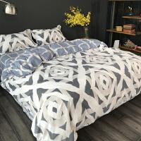 冬季全棉磨毛1.8米床上用品四件套1.5m床单被套三件套加厚保暖