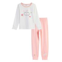 小猪班纳童装儿童家居服2018秋冬女孩长袖睡衣套装女童内衣两件套