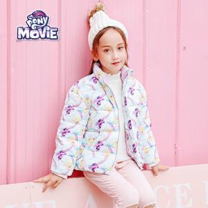 【3件3折到手价:99】小马宝莉童装女童冬装2018秋冬新品满印棉服