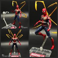 复仇者联盟3 钢铁侠蜘蛛侠手办英雄归来毒液玩具模型可动人偶漫威