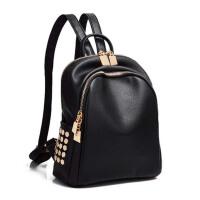 女春季书包 休闲女士双肩包 简约背包 旅行小包包