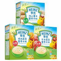 亨氏米粉 婴儿荤素米粉组合225g*3(鸡肉+鱼肉蔬菜+淮山薏米) 宝宝辅食