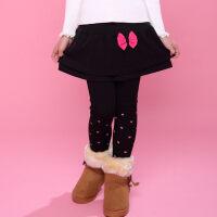 童装女童儿童秋冬款棉加绒加厚假两件裙裤打底裤保暖裤子休闲裤