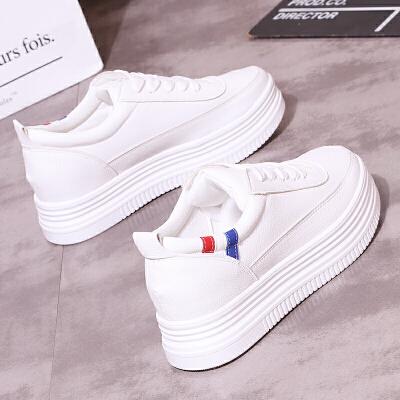 小白鞋女夏季2018新款韩版百搭厚底韩范儿chic白色ulzzang板鞋潮