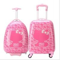 儿童拉杆箱KT猫旅行箱行李箱女童16寸18寸19寸万向轮拖箱登机箱