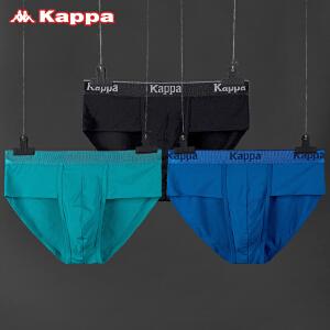 Kappa/卡帕(3条装)男士内裤莫代尔60S高织透气舒适三角裤KP8K02A