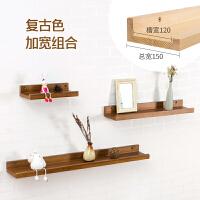 墙上置物架卧室背景墙壁挂客厅墙面装饰架子现代简约实木一字隔板
