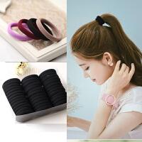 超值装3-60条高弹力发圈韩版头绳无接缝橡皮筋扎头发成人头饰品