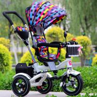 儿童三轮车自行车宝宝婴儿手推车1-3-6儿童折叠三轮脚踏童车