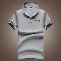 夏季新款短袖t恤男士衣服翻领商务T血男装半袖体恤韩版衬Polo衫8w