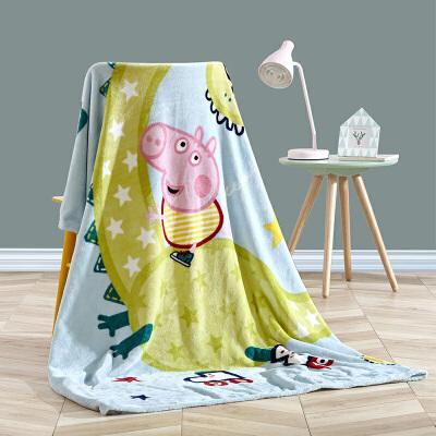 18日0点: Dohia 多喜爱 小猪佩奇之出发吧恐龙 法兰绒毯 150*200cm 99元包邮