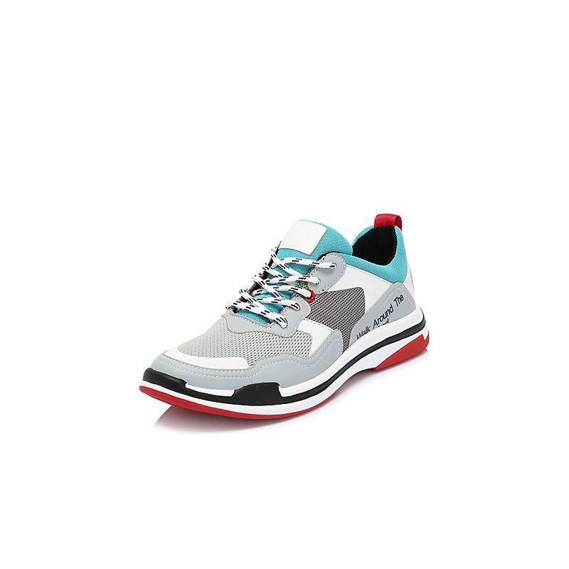 Belle/百丽2018春新专柜同款纺织品/人造革男休闲鞋5SR01AM8