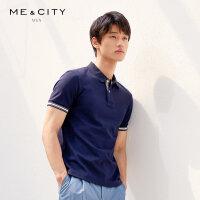 【1件4折到手价:94】MECITY男装夏季新款短袖男士白色polo衫T恤