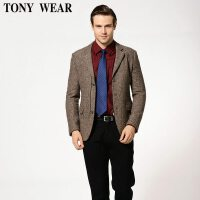 TONY WEAR/汤尼威尔商务休闲男士秋冬西服式外套上衣