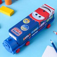 飞侠文具盒漫威男文具创意小汽车巴士小学生女幼儿园多功能笔盒