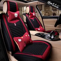 汽车坐垫卡通女性夏季汽车内用品五件套汽车座椅套女神款四季通用SN6248
