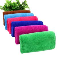 双层加厚珊瑚绒抹布超吸水打扫卫生搞家政清洁用的擦手毛巾
