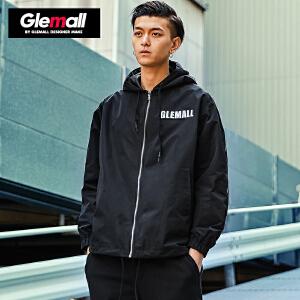 森马潮牌GLEMALL 外套男青年夹克连帽韩版冲锋衣短款百搭潮