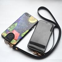纯手工iphone6plus真皮挂绳手机壳防摔4.7/5.5寸手机套挂脖保护套