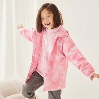 【1件5折价:229.5】moomoo童装男童女童外套春秋新款大童时尚洋气套装冲锋衣两件套潮