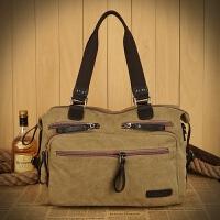 男包实用休闲大包包男士手提包帆布旅行包大号单肩斜挎包多口袋包