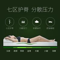 泰国乳胶床垫1.8m床1.5米榻榻米床垫学生宿舍橡胶垫 按摩10cm厚 内套+外套 送乳胶枕