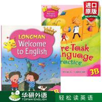 正版现货 香港朗文小学英语3B三年级下学期教材 综合练习册英文原版 Longman Welcome to Englis