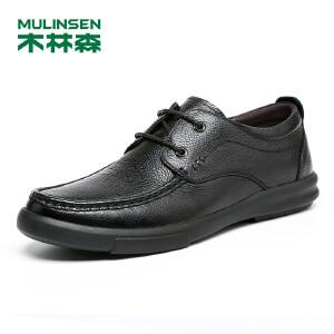 【最后一小时 下单立减120】木林森99男鞋2018秋季新款商务休闲皮鞋 87053105