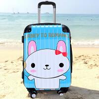 拉杆箱 儿童可爱卡通旅行箱密码箱20/万向轮行李箱 蓝色
