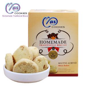 马来西亚进口 麦阿思扁桃仁松脆曲奇饼干 110g