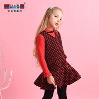 【3件价:49.8元】铅笔俱乐部童装2020春装新款女童背心连衣裙中大童裙子儿童连衣裙