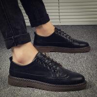 冬季新款男鞋子韩版潮流皮鞋男士增高休闲板鞋百搭潮鞋保暖棉鞋秋
