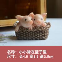 小猪摆件可爱动物家居装饰品套装桌面生日礼物*圣诞节