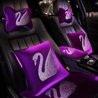 汽车头枕靠枕四季卡通装饰用品车内车载护颈枕腰靠一对车上枕头女