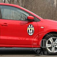 意甲尤文图斯队标车贴 反光汽车贴纸球队标 队徽 足球球迷标贴花