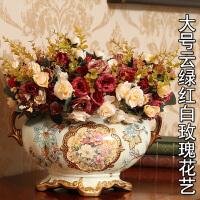 复古装饰品摆件陶瓷花盆花艺花器餐桌花瓶客厅摆设工艺品创意