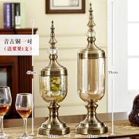 20190108020604546欧式装饰品花瓶大号玻璃 透明摆件 客厅干花插花餐桌家居创意美式
