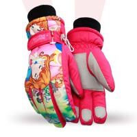 冬学生防寒男女少年手套 儿童滑雪手套 大童厚 保暖滑雪手套
