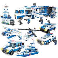 儿童拼装玩具军事系列军舰6-8岁12飞机坦克兼容乐高积木男孩