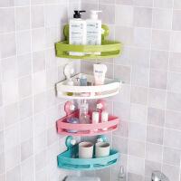 浴室吸盘三角置物架厕所洗手间洗漱架子角架卫生间转角壁挂收纳架