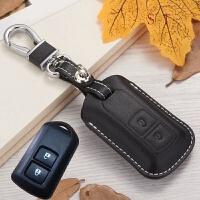 丰田致炫钥匙包威驰遥控包新致炫真皮12款汉兰达老款凯美瑞钥匙套 黑色 (两键)