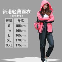 雨衣雨裤套装分体雨衣女士时尚摩托车雨衣骑行户外徒步 红色