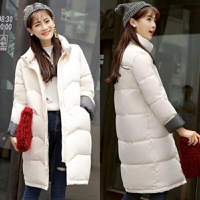 棉衣女中长款宽松学生面包服新款冬装加厚外套棉袄潮