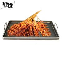征伐 铁板 鱿鱼烤冷面长方形燃气煎盘户外野餐烹饪用具不锈钢烤肉盘户外多功能烘焙烧烤盘
