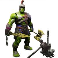 可动人偶 雷神3 大号绿巨人模型复仇者联盟洛基可动人偶玩具带手套漫威 买就+送超合金拳头
