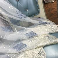 成品窗帘成品 纱帘 精致绣花窗纱 简约中式 飘窗订做
