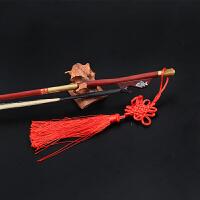 二胡弹奏乐器配件中型弓鱼演奏级二胡紫檀弓 白马尾