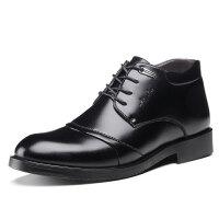 棉鞋男鞋冬季男士棉皮鞋加毛加绒保暖冬鞋正装羊毛鞋冬天高帮鞋子